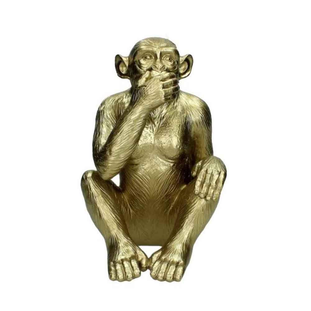 escultura-macaco-dourado