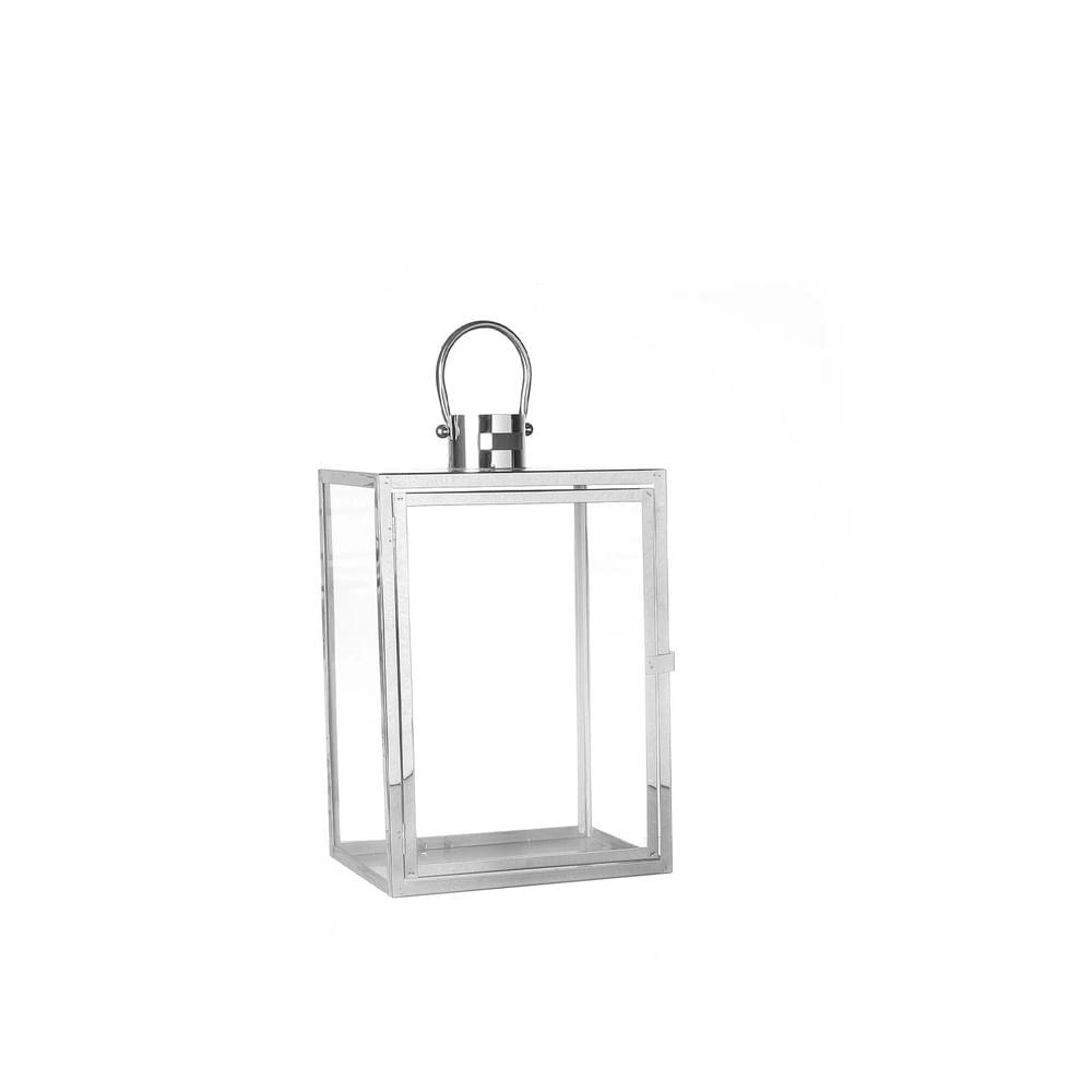 Lanterna De Vidro E Metal M
