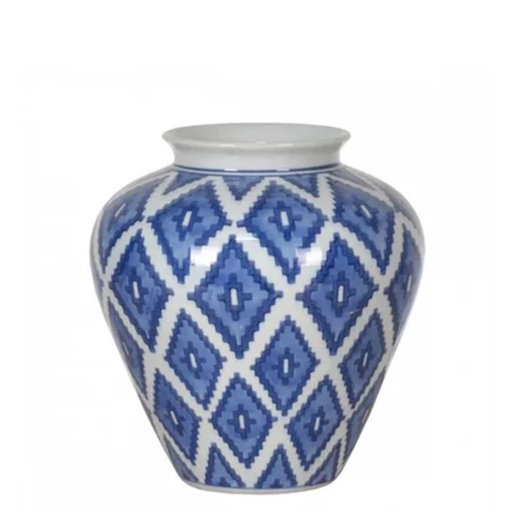 Vaso Porcelana Azul 20x20cm