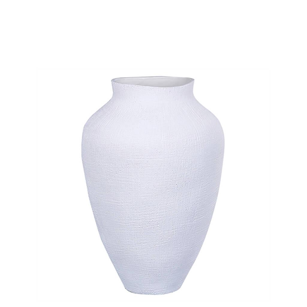 Vaso Cerâmica Branco 22,5cm