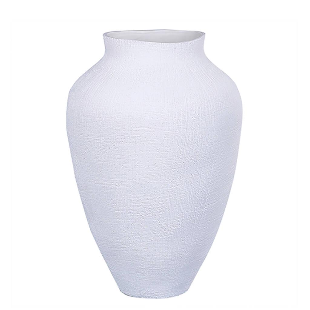 Vaso Cerâmica Branco 31cm