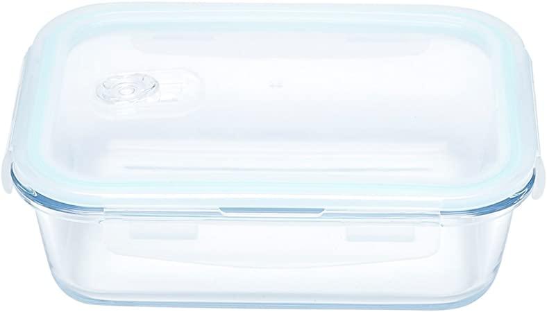 Pote Retangular Hermético Transparente 1L