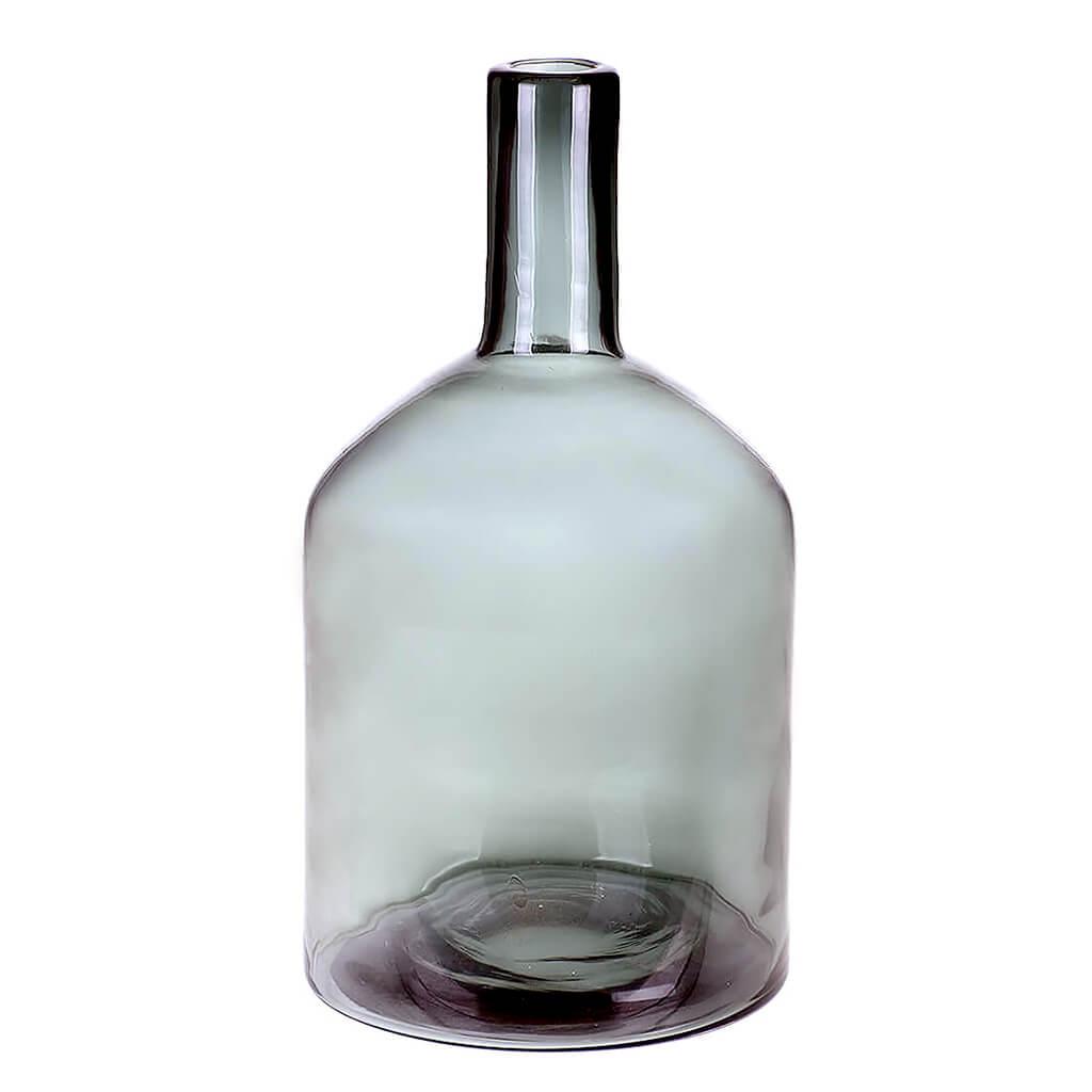 Vaso De Vidro Cinza