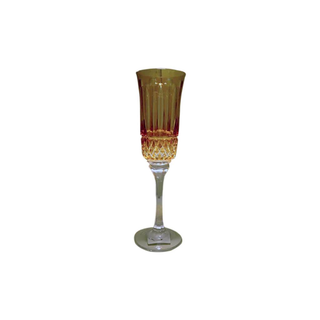 Taça Champanhe Amarelo Com 6