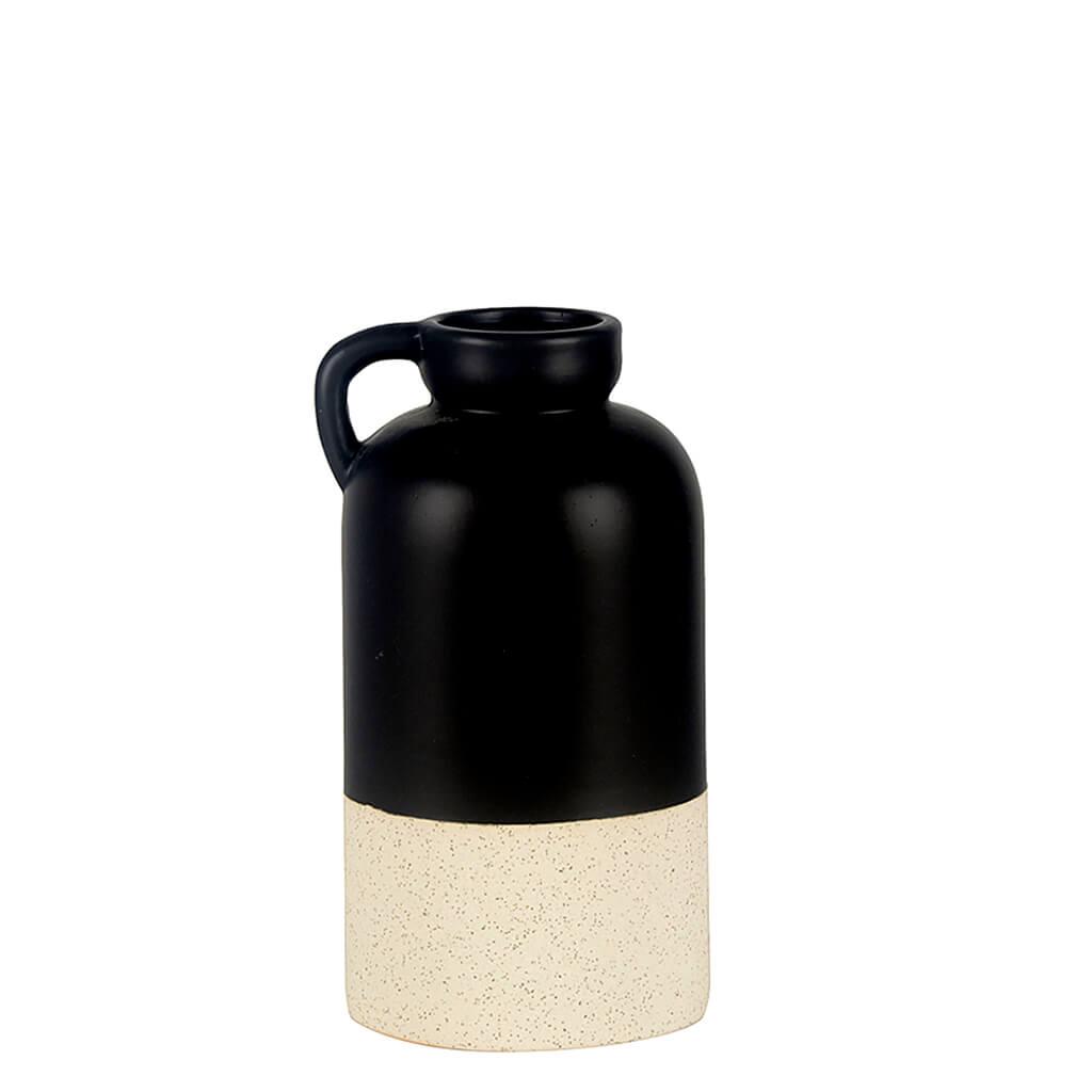 Vaso Cerâmica Preto e Branco M