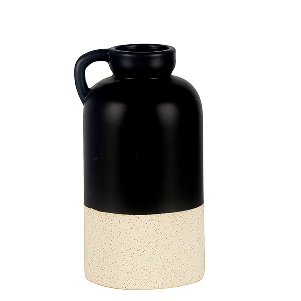 Vaso Cerâmica Preto e Branco G